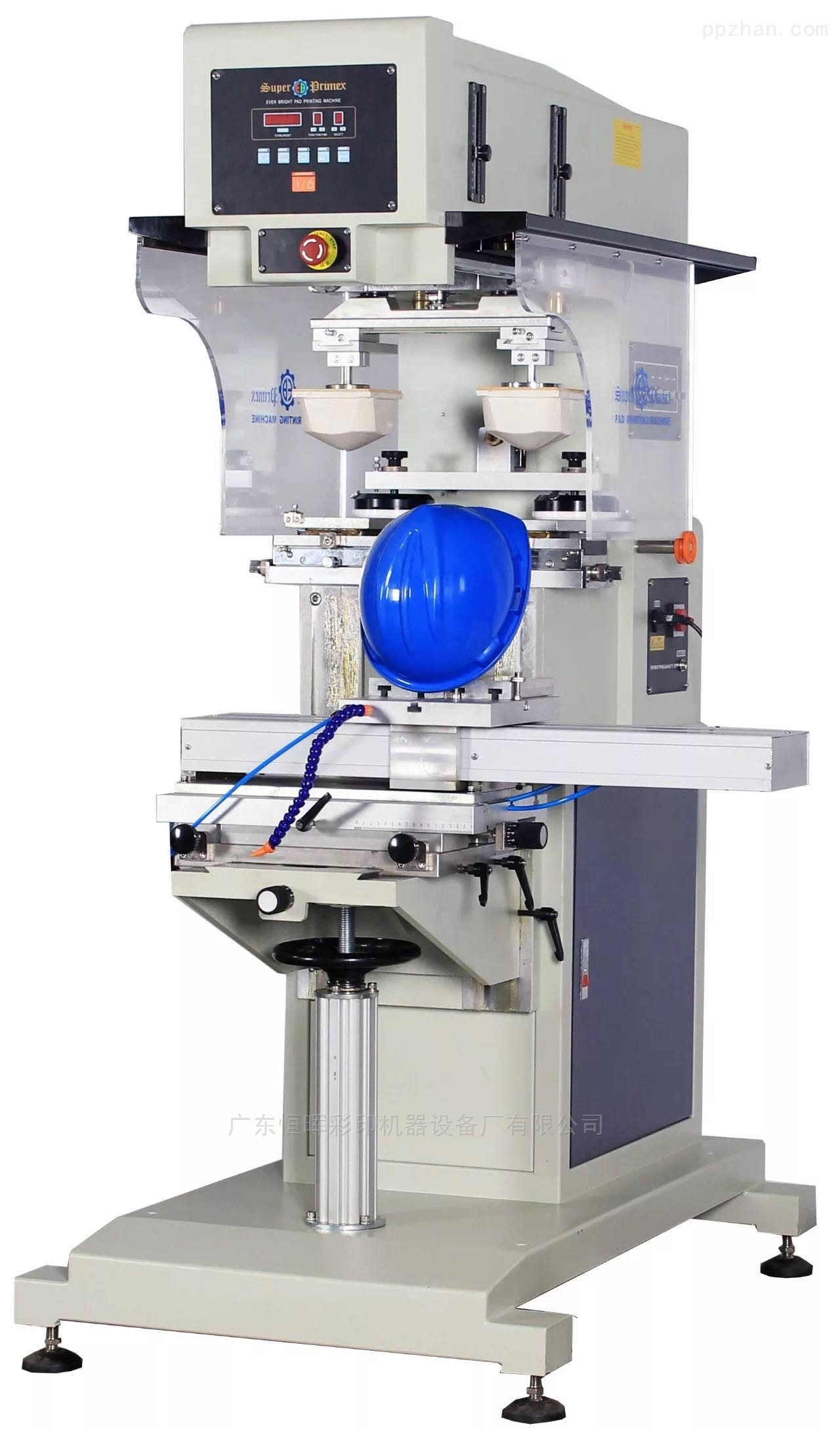 SPC-820SD-安全帽广东恒晖牌双色油盅移印机