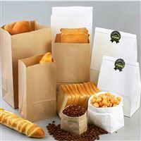厂家方底牛皮纸食品包装袋烘焙西点打包纸袋